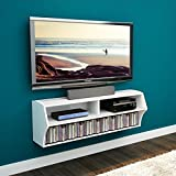 Prepac White Altus Wall Mounted Audio/Video Console