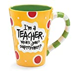 Im A Teacher, Whats Your Super Power? Teacher 12 oz Coffee Mug Great Gift