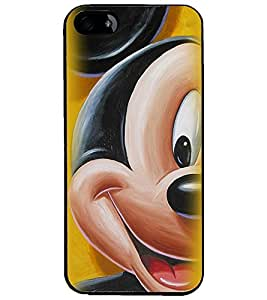 PrintDhaba Mickey Mouse D-2347 Back Case Cover for APPLE IPHONE 4 (Multi-Coloured)