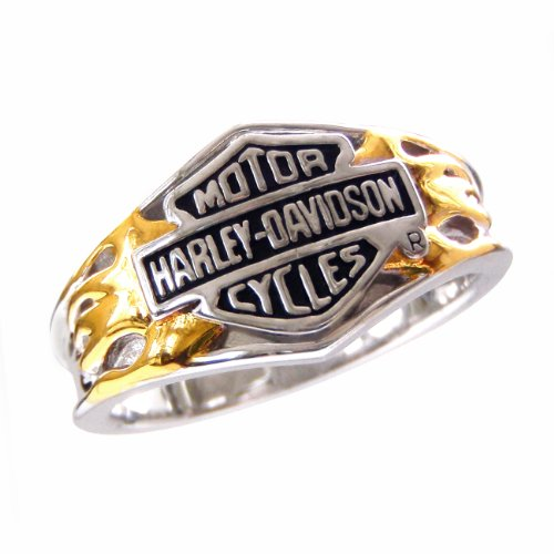 Sterling Silver Harley-Davidson Ladies Classic Logo Ring