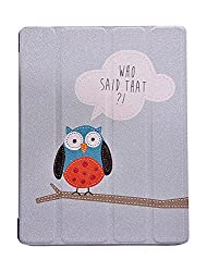 KolorFish Funky Designer Series Flip Leather Stand Case Cover for Apple iPad Air (Who Said That)