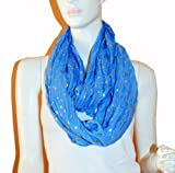 SCARF_TRADINGINC® Light Weight All Season Heart Gliding Infinity Scarf