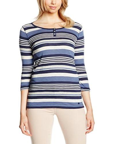 Betty Barclay Elements - 0410/0902, T-shirt da donna, multicolore (mehrfarbig  (classic blue/nature ...