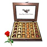 Valentine Chocholik's Belgium Chocolates - Awesome Tasty Chocolate Treat With Red Rose