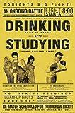 Drinking vs. Studying Poster - Poster Großformat