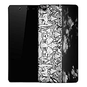 Snoogg Graffiti Black And White Designer Protective Phone Back Case Cover For Micromax Canvas Selfie Q348