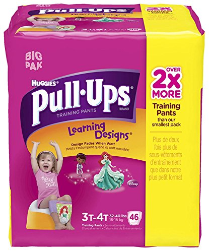 Huggies Pull-Ups Training Pants - Learning Designs - Girls - 3T-4T - 46 ct - 1