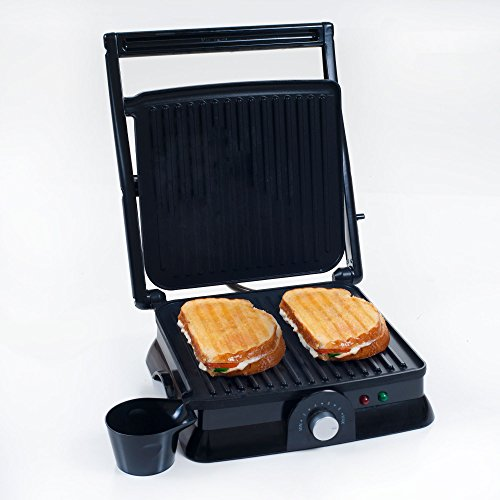 Great Features Of Chef Buddy 82-SW73 Non-Stick Grill and Panini Press, Large