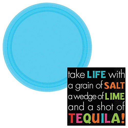 Shot of Tequila Dessert Napkins & Plates Party Kit for 8 (Margarita Party Napkins compare prices)