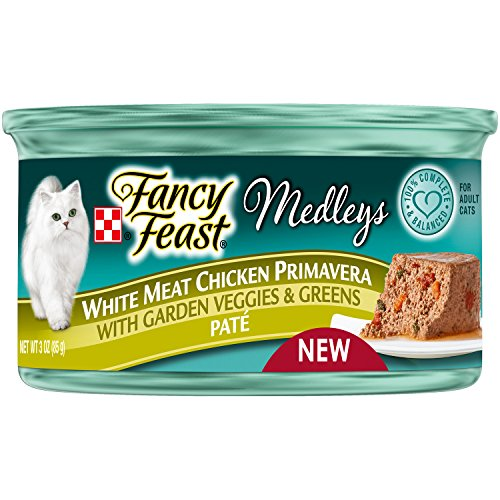 Fancy Feast White Meat Chicken Primavera Pate With Garden Veggies & Greens