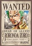 ONE PIECE - Poster Wanted Zoro (98x68) roulé filmé