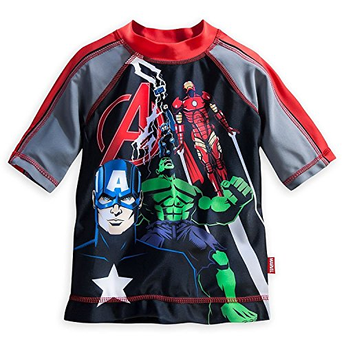 Disney Little Boys' The Avengers Rash Guard With UPF 50+