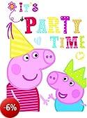 Peppa Pig 6 Biglietti invito Peppa con busta