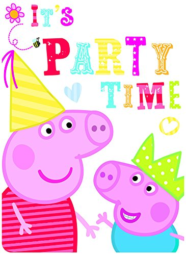 For Sale! 6 Peppa Pig RED Birthday Party Invitations Invites Plus Envelopes
