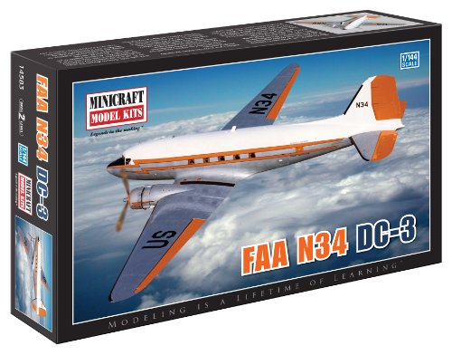 Minicraft Models FAA N-34/DC-3 1/144 Scale