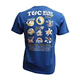 T&C Tシャツ メンズ ブランド 半袖 サーフ 丸首 インナー タウカン タウンアンドカントリー コットン (L, ブルー)