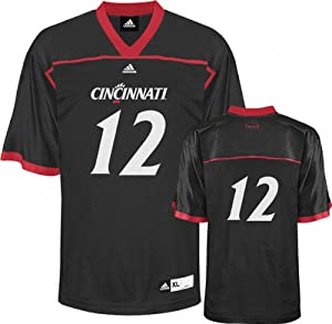 NCAA adidas Cincinnati Bearcats #12 Replica Football Jersey - Red by adidas