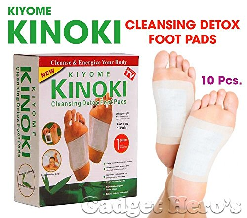 Acupressure Health Care Product Acp Kinoki Cleansing Detox Foot Pads Set Of 10 (Free Size, White)