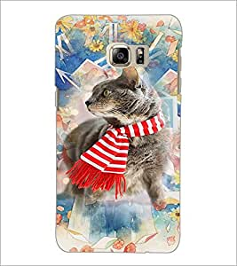 PrintDhaba Cat D-3179 Back Case Cover for SAMSUNG GALAXY NOTE 5 EDGE (Multi-Coloured)