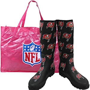 Cuce Shoes Tampa Bay Buccaneers Ladies Enthusiast Rain Boot by Cuce Twins LLC
