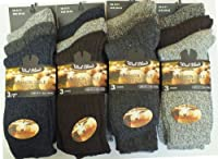 6 mens hiking socks extra worm THICK wool blend CUSHION SOLE socks work socks