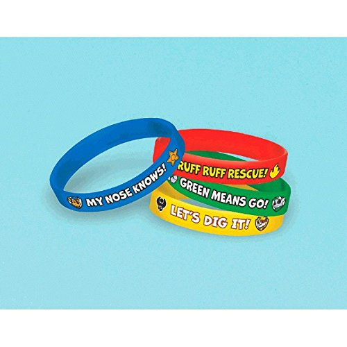 Paw Patrol Rubber Bracelet (4 Count) - 1