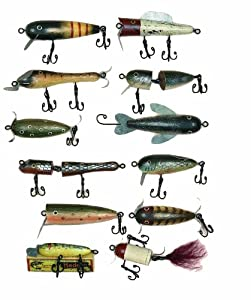 Rivers Edge Products 12 Asst Antique Wood Lure Ornaments by River