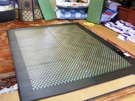 新柄、飛鳥、い草ラグ・純国産の逸品*191×250 裏付き*長方形