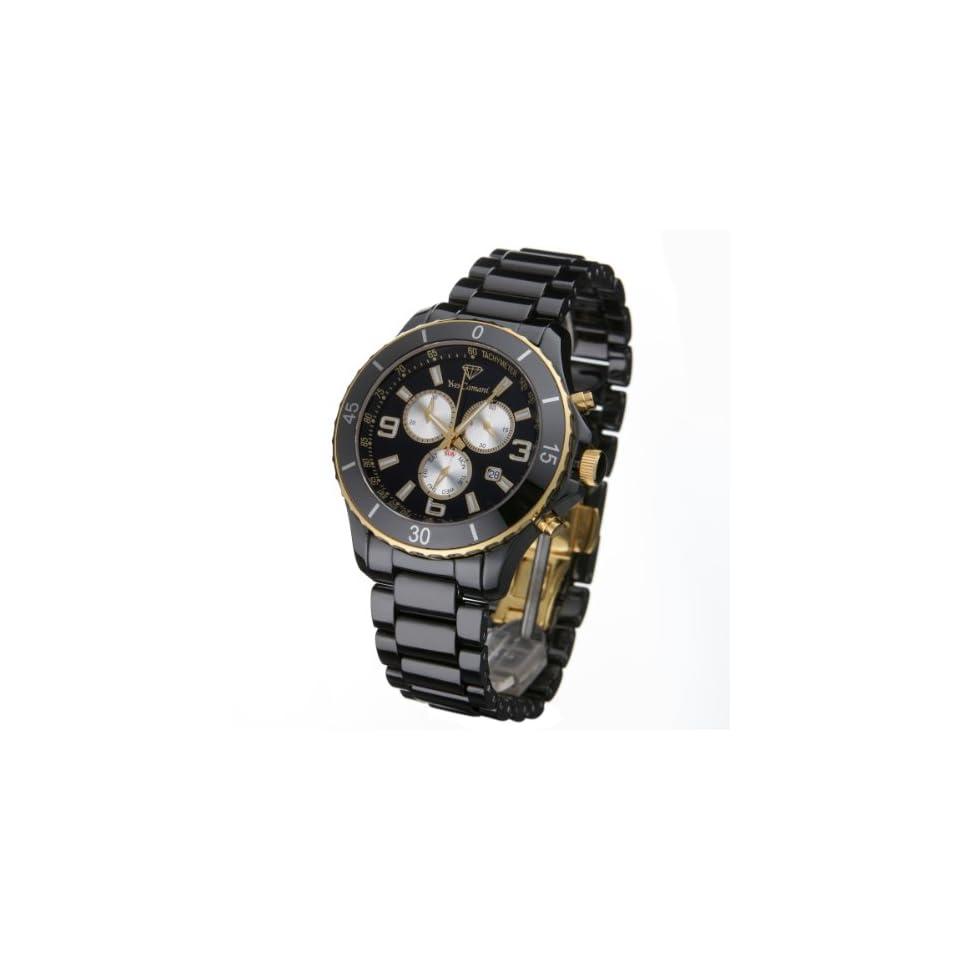 Herren Schwarzgold Uhren Yves Chronograph Camani Antony OPXuZik