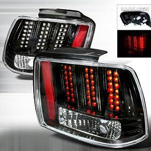 1999 2004 ford mustang led tail lights black. Black Bedroom Furniture Sets. Home Design Ideas