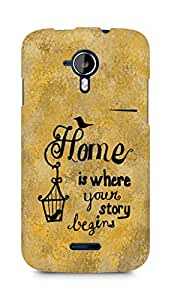 AMEZ home is where your story begins Back Cover For Micromax Canvas Magnus A117