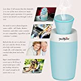 PrettyCare Ultrasonic Cool Mist Humidifier (Multi Use for Travel Office Desk Desktop Car Small Bedroom) Personal Humidifier / USB Portable Mini Humidifier/ Air Purifier for Baby Room with Water Bottle