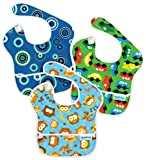 Bumkins 3 Pack Waterproof SuperBib, Colors May Vary