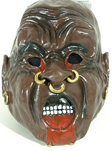 Evil Scary Genie Mask Pierced Nose Halloween Latex Costume Max by Quality Brand