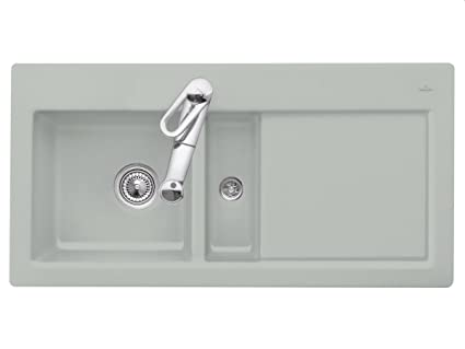 Villeroy Boch Subway 60 Fossil &Grey Keramikspule Built-In Sink Kitchen Sink