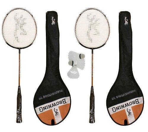2 x Browning NanoFire Ti Badminton Rackets + 3 Carlton Shuttles RRP £70