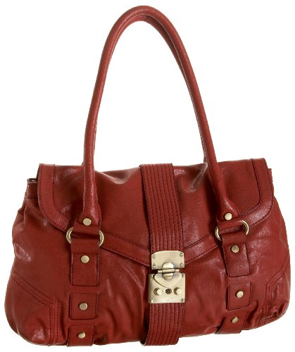 Melie Bianco W9-392 Satchel,Red,one size