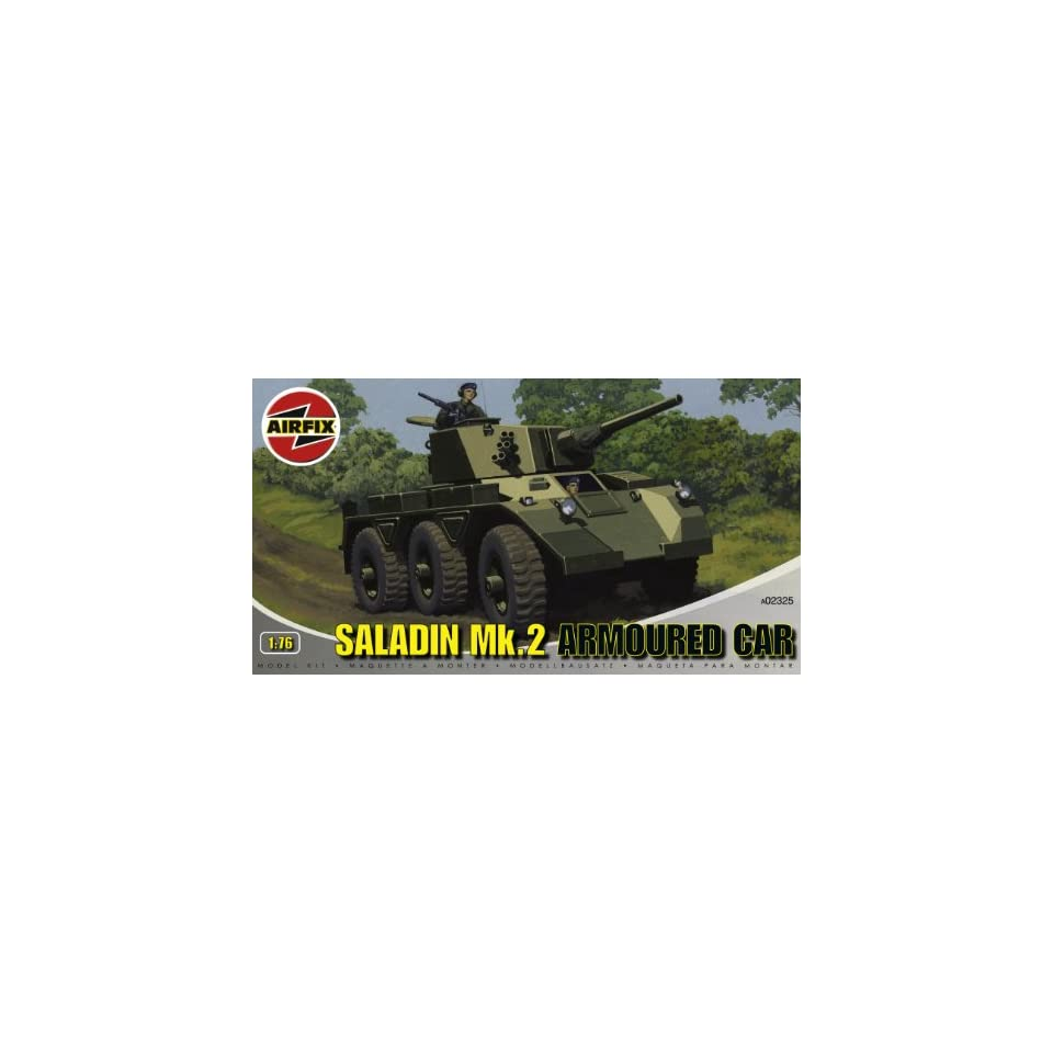 Airfix A02325 176 Scale Saladin MkII Armoured Car Military Vehicles Classic Kit Series 2