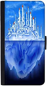 Snoogg Castle On Iceberg` 2765 Graphic Snap On Hard Back Leather + Pc Flip Co...