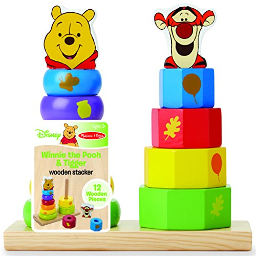 Disney Baby Winnie the Pooh and Tigger Wooden Stacker - 1