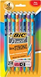 BIC Pencil Xtra Strong (colorful barrels), Thick Point (0.9 mm), 24-Count