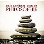 Cours de philosophie | Émile Durkheim