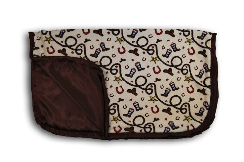 Caught Ya Lookin' Reversible Baby Blanket, Cowboy