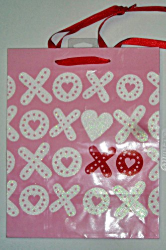 Pink XOXO Valentine's Day Gift Bag with Glitter Accents by American Greetings