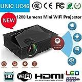 "I-Tech UNIC HD Cheap 100"" Inch Multimedia LED LCD Projector Home Cinema Theater Supports - HDMI USB VGA AV SD Card (Just Plug USB & Play HD Movies)"