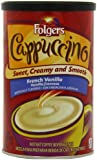Folgers Cappuccino French Vanilla Beverage Mix, 16 oz., 6 Count