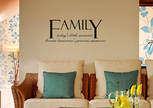 Family: Today'S Little Moments Becomes Tomorrow'S Precious Memories Vinyl Wall Art Inspirational Quotes And Saying Home Decor Decal Sticker Steamss front-785669