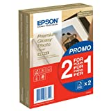 Epson Premium Glossy Photo Paper BOGOF Papier photo brillant 100 x 150 mm 40 feuille(s) (pack de 2 )par Epson