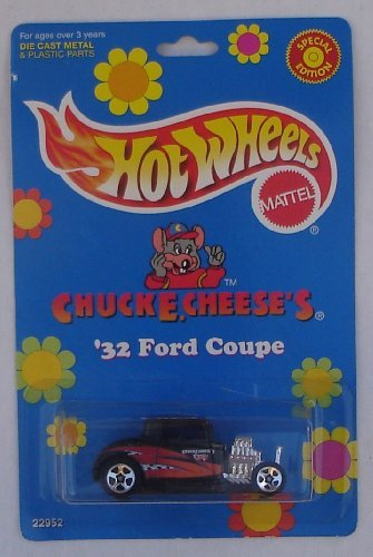 Chuck E Cheese 1998 Hot Wheels Carded Die Cast `32 Ford Coupe Special Limited Edition