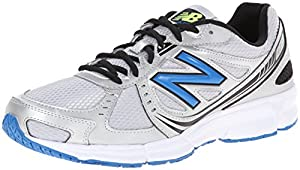 New Balance Men's M470V4 Running Shoe,Silver/Blue,10.5 D US